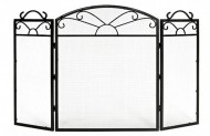 Fire Screen 3 Panel Sunrise Large in Black